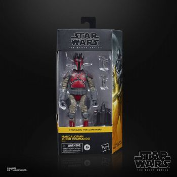 Star Wars The Black Series 2020 Clone Wars Mandalorian Super Commando Figure - Pre-order